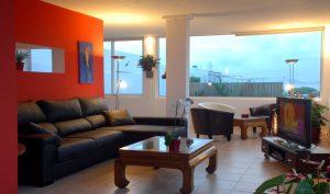 villa with ocean views